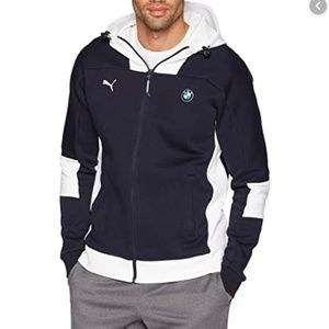 PUMA BMW Motorsport Blue Zipper Hooded Sweater